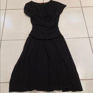 Velvet black touched dress cotton XL